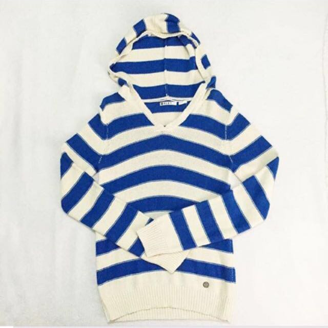 ROXY Knit Striped Hoodie