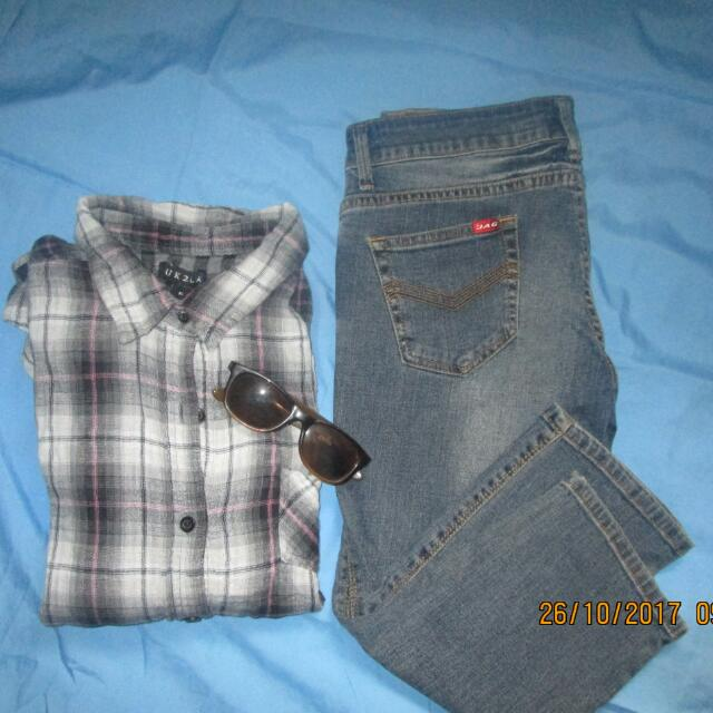 Sale!  Bundle Jag Crop Pants And Imported Lonsleve From Canada