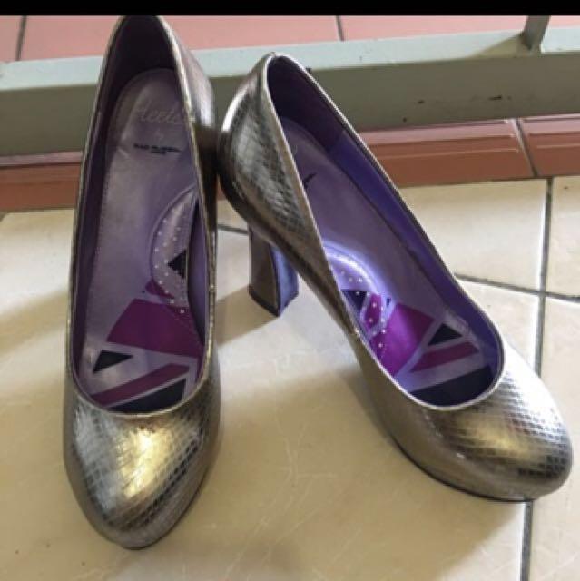 Silver heels by Rad Russel London
