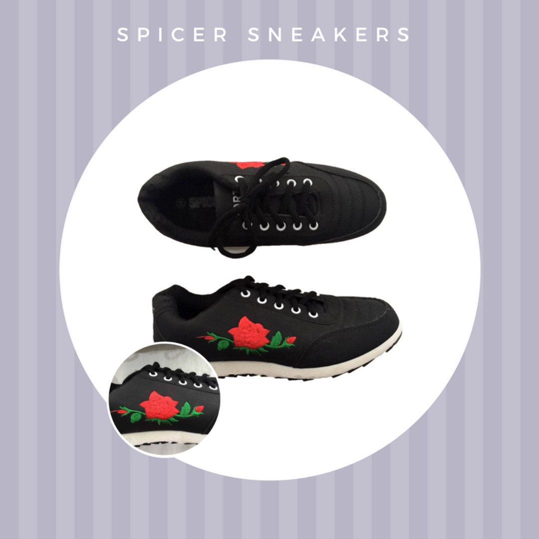 Spicer Sneakers With Flower Patch