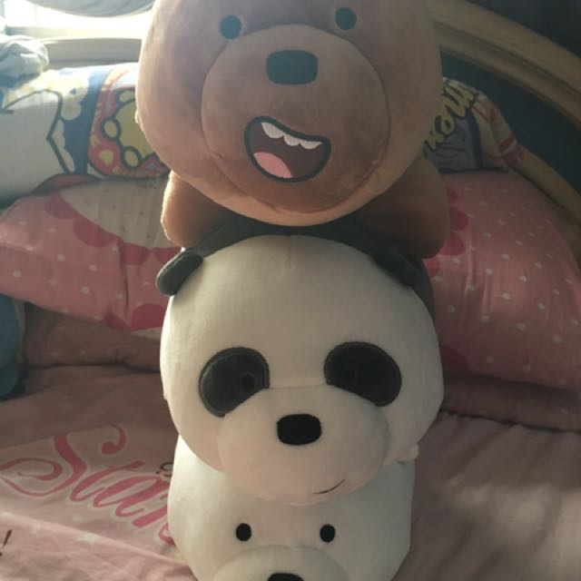 Stackable we bare bear plushies