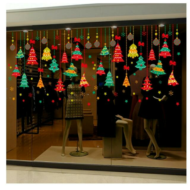 STICKY CHRISTMAS GLASS DECORATION