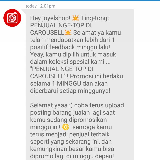 #thanks carousell