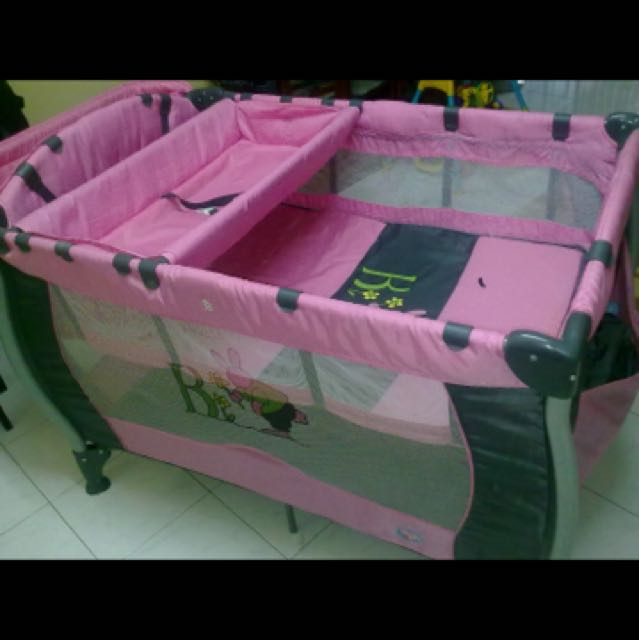 Used Sweet Cherry Baby Play Pen Pink Colour
