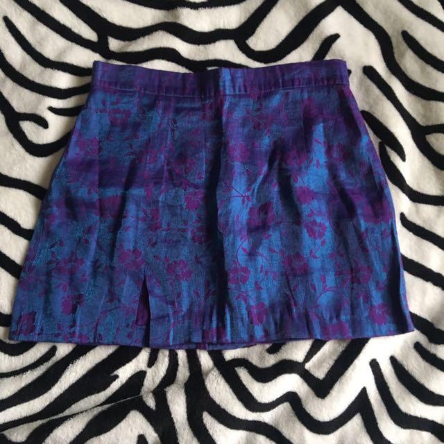 Vintage festival mini skirt hand made
