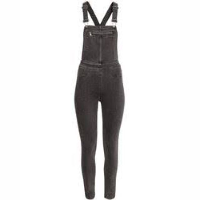 Washed out black dungarees