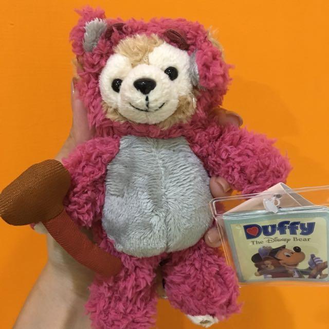 熊抱哥裝x達菲熊Duffy 絨毛玩偶 鑰匙圈/吊飾