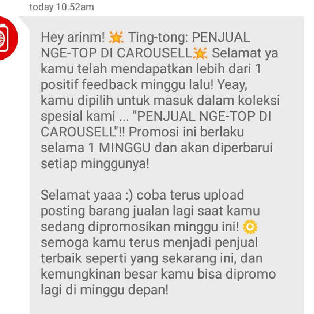 Yayyy! Carousell Top Seller