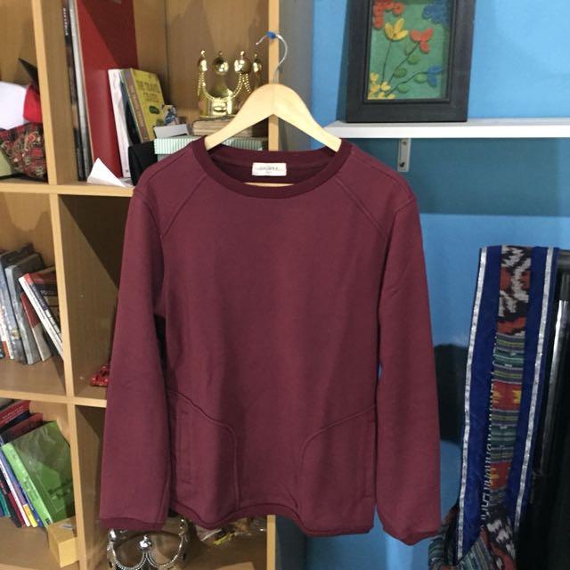 Zalora Maroon Sweater