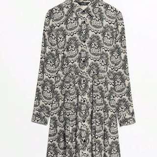 Paris atelier buttoned dress