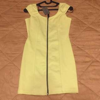 Brand new! H&M Zip-up Dress in Lime (size EUR 36)
