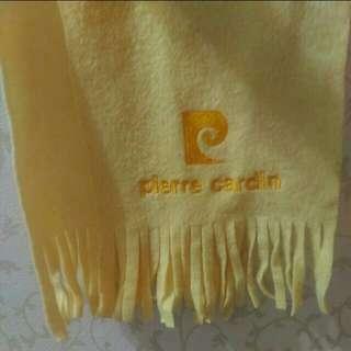 皮爾卡登 Pierre Cardln  黃色 圍巾
