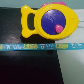 Roll a fish measuring tape abc picture tape magnet toy