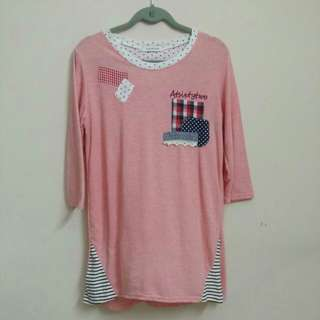 Sixpenze Pink Dress