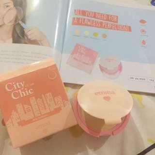 NEW Emina CC cake (cc cream + powder) bedak