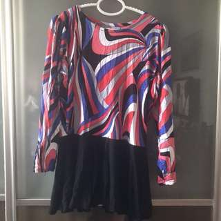 Peplum Jersey Top