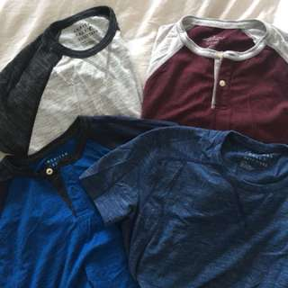 American Eagle cotton t-shirts *Set of 4* size M