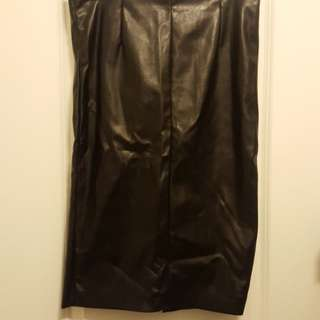 #BlackFriday50 Black Leather Skirt