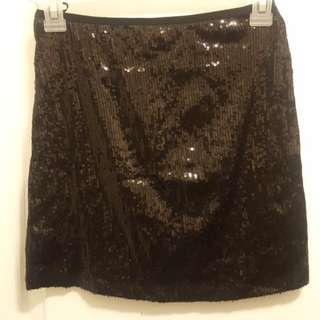 #BlackFriday50 Black Sequin Mini Skirt