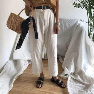 Vintage button linen pants
