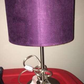 Purple suede lamp