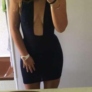 Navy low cut dress