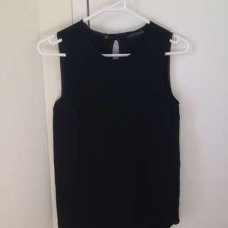 Black Zara sleeveless top