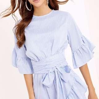 Brand New Pretty Little Thing Striped Summer Dress