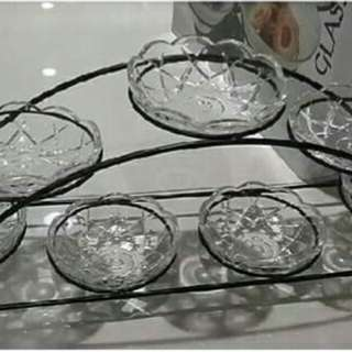 8PCS GLASS SERVING SET