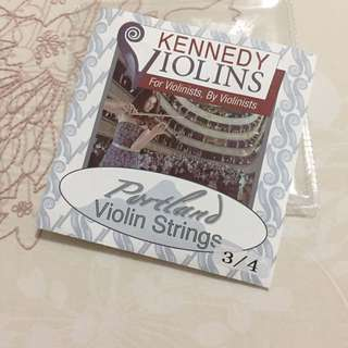 Violin strings by Kennedy violins