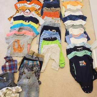 6 months baby boy lot (48 items)