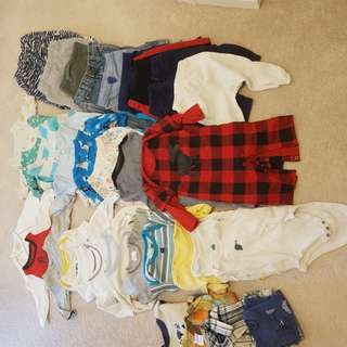 0-6 months baby boy lot (33 items)