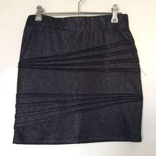Sparkly Bardot Mini Skirt