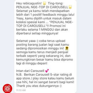 Thanj you caroussel ❤️