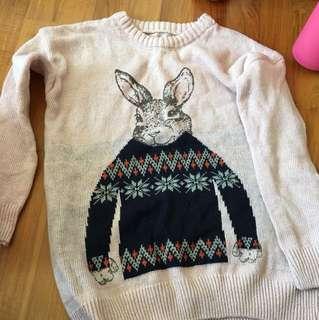 Winter rabbit top