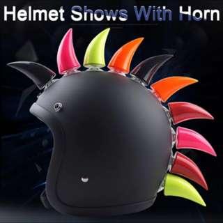Universal motorcycle helmet horn decoration for agv hjc for icon LS2 for Shark all brand full face open face moto helmets horn