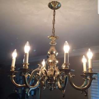 Real solid brass Chandalier