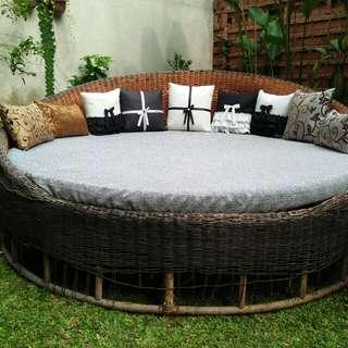 Sofa bed rotan