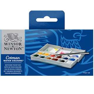 * BRAND NEW * Winsor & Newton Cotman Watercolours Sketchers' Pocket Box