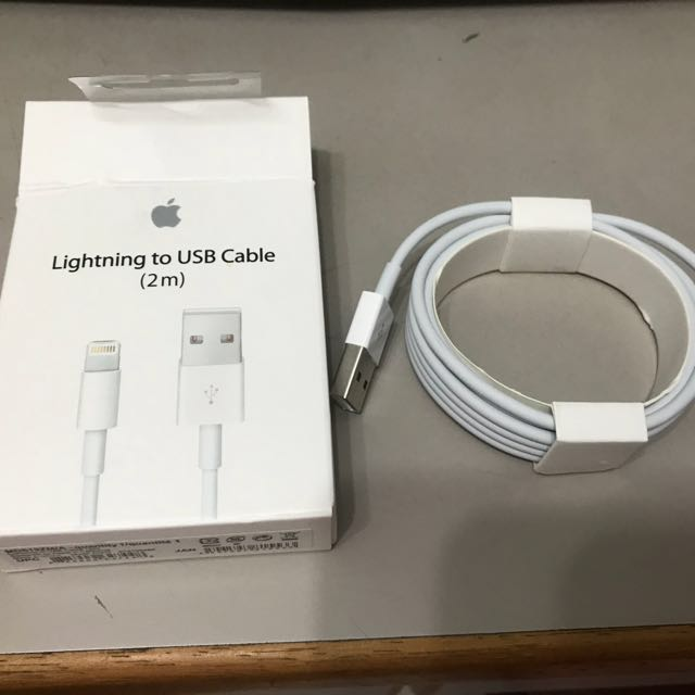 (100% Authentic) 2m Apple lightning USB cable