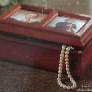 全新原盒未開封仿古木製相片手飾盒