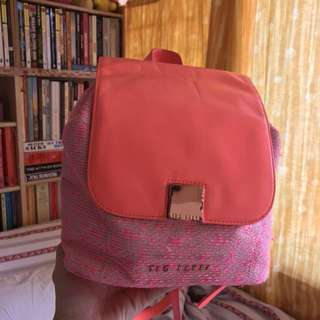 🇬🇧TED BAKER hot pink backpack