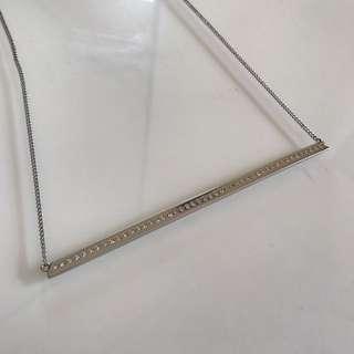 Mimco™ Reversible Silver Bar Necklace