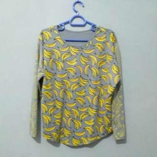 shirt banana longsleeve