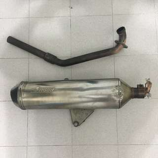 4road exhaust pipe