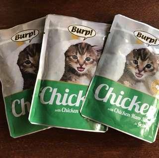Burp Chicken with Chicken Ham Sliced In Gravy 13 pouches for $10