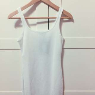 PLT White Bodycon Dress