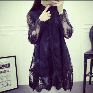 ♥長袖蕾絲洋裝♥