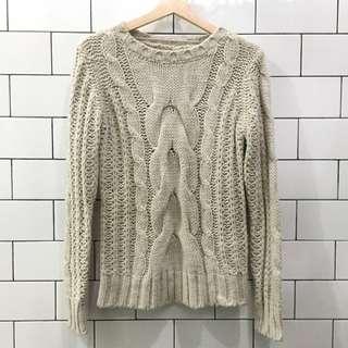 Cream Knit Wool Sweater