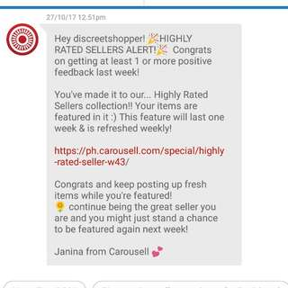 Thank you again carousell and shoppers!